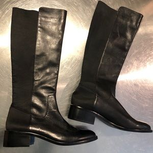 BCBG Generation Knee High Black Leather Boot